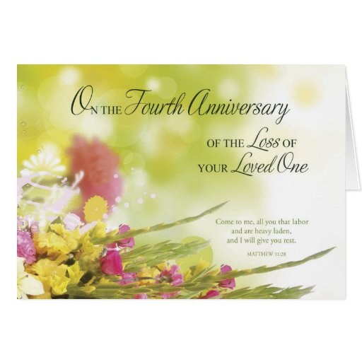 Th anniversary of loss loved one s death card zazzle