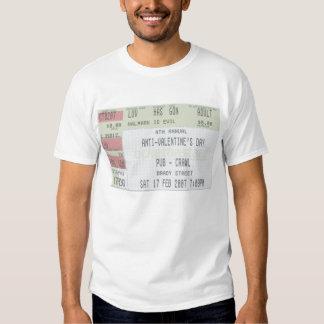 4th Annual Anti-Valentines Day Pub Crawl T Shirt