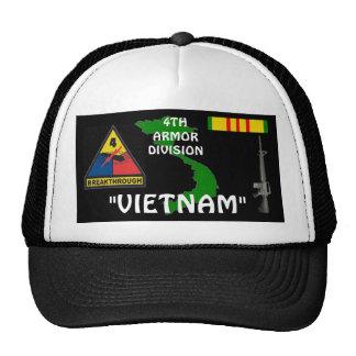 4th Armor Division Vietnam Veteran Ball Caps Trucker Hat