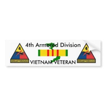 4th Armored Div bumper sticker