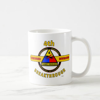 "4TH ARMORED DIVISION ""BREAKTHROUGH"" COFFEE MUG"