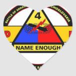 """4TH ARMORED DIVISION """"BREAKTHROUGH"""" HEART STICKER"""