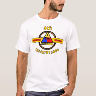 """4TH ARMORED DIVISION """"BREAKTHROUGH"""" T-Shirt"""
