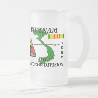 4th Armored Division Vietnam Frosted Mugs