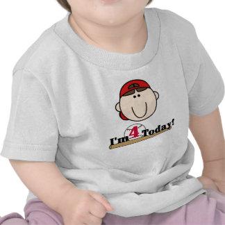 4th Baseball Birthday Shirts