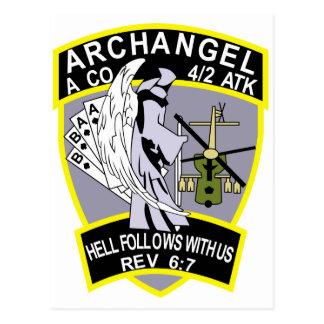 4th Battalion 2nd Attack Aviation Regiment Air Cav Postcard