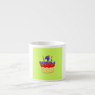4th Birthday 4 Yr. Old 6 Oz Ceramic Espresso Cup