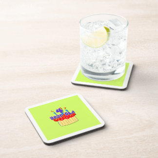 4th Birthday 4 Yr. Old Beverage Coaster