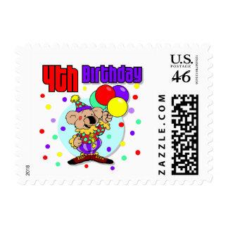 4th Birthday Australia Birthday Postage Stamp