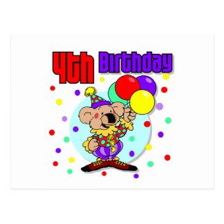4th Birthday Australia Birthday Postcards
