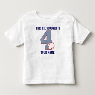 4th Birthday Baseball Toddler T-shirt