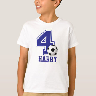 4th Birthday boy soccer personalized T-Shirt