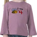 4th birthday bumble bee gift idea t shirt