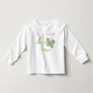 4th Birthday Butterfly Toddler T-shirt