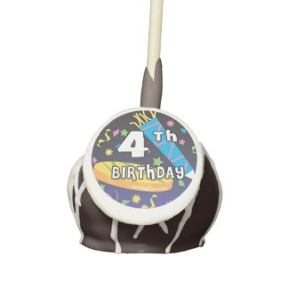 4th Birthday Cake Pops