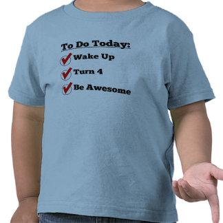 4th Birthday Checklist T Shirt
