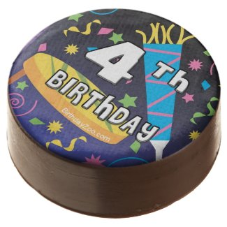 4th Birthday Chocolate Covered Oreo