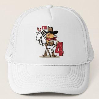 4th Birthday Cowboy Stick Horse Trucker Hat