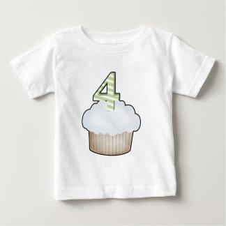 4th Birthday Cupcake Baby T-Shirt