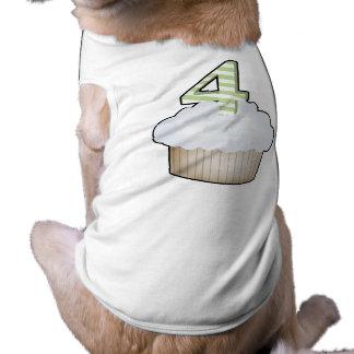4th Birthday Cupcake Dog Shirt