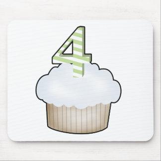 4th Birthday Cupcake Mouse Pad