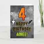 [ Thumbnail: 4th Birthday: Eerie Halloween Theme + Custom Name Card ]