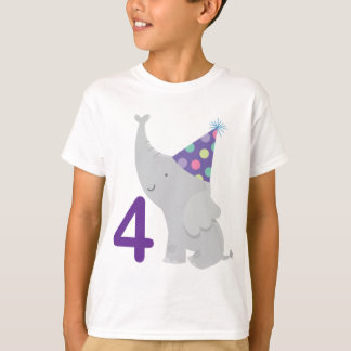 4th Birthday Elephant T-Shirt