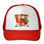 4th Birthday Farm Birthday Mesh Hats
