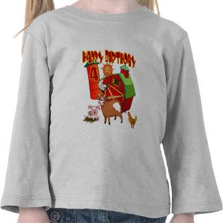 4th Birthday Farm Birthday Shirts