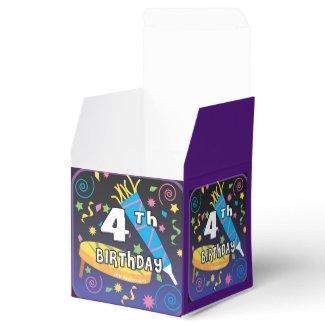 4th Birthday Favor Box