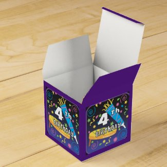 4th Birthday Favor Box