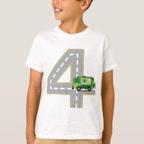 4th Birthday Garbage Truck T-Shirt