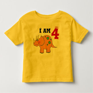 4th birthday gift, dinosaur triceratops toddler t-shirt