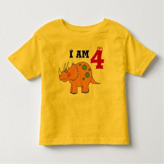 4th birthday gift, dinosaur triceratops toddler t-shirt