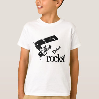 4th Birthday Gift for 4 Year Old Number on Slant T-Shirt