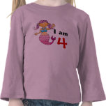 4th birthday gift for a girl, cute mermaid shirts