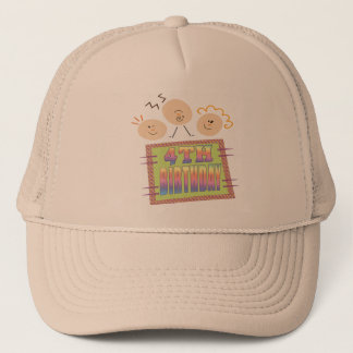 4th Birthday Gifts Trucker Hat