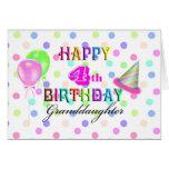 4th Birthday Granddaughter Cards