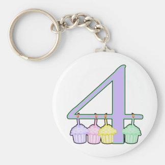 4th Birthday Keychain