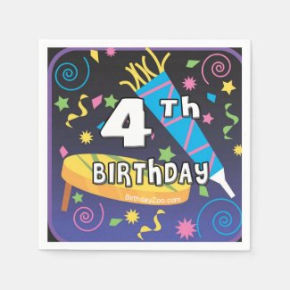 4th Birthday Napkin