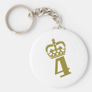 4th Birthday - Number – Four Basic Round Button Keychain