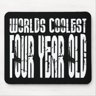 4th Birthday Parties Worlds Coolest Four Year Old Mouse Pad