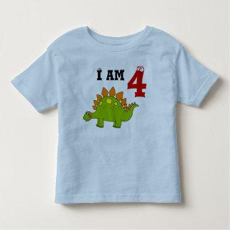 4th birthday party gift, dinosaur stegosaurus toddler t-shirt
