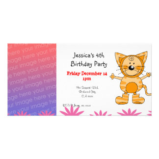 4th birthday party invitations ( cat costume )