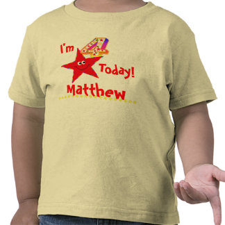 4th Birthday Party Shirt Red Smiley Stars