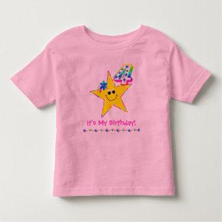 4th Birthday Party Shirt Smiley Stars