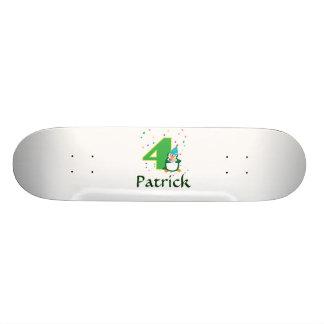 4th Birthday Penguin Skateboard