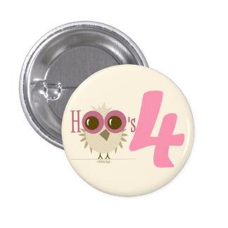 4th Birthday Pink Baby Owl Birthday Party Theme Pin