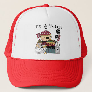 4th Birthday Pirate Tshirts and Gifts Trucker Hat