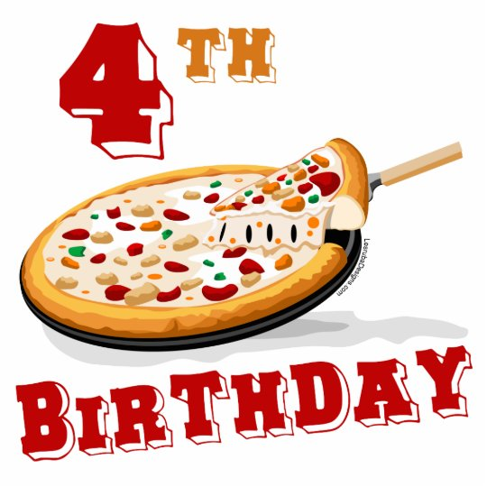 4th Birthday Pizza Party Cutout